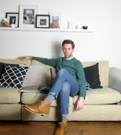 Boy in breton male blog blogger fashion outfit of the day ootd style menswear home interiors inspiration Acne Studios Stripes Levi's Jeans Denim