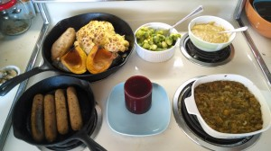 dinner set out