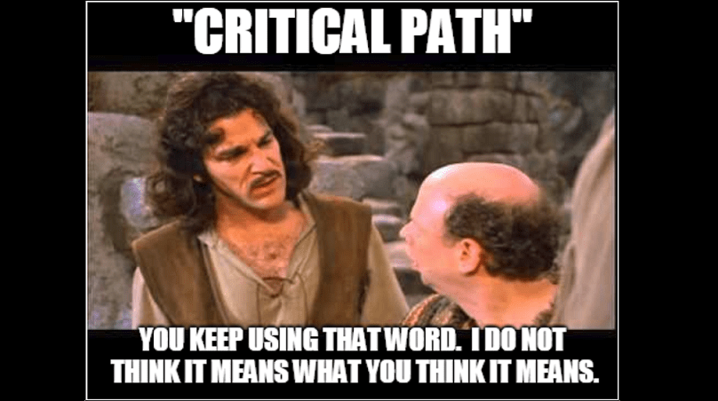 Don't Confuse Critical Tasks with Critical Paths in Project Schedules