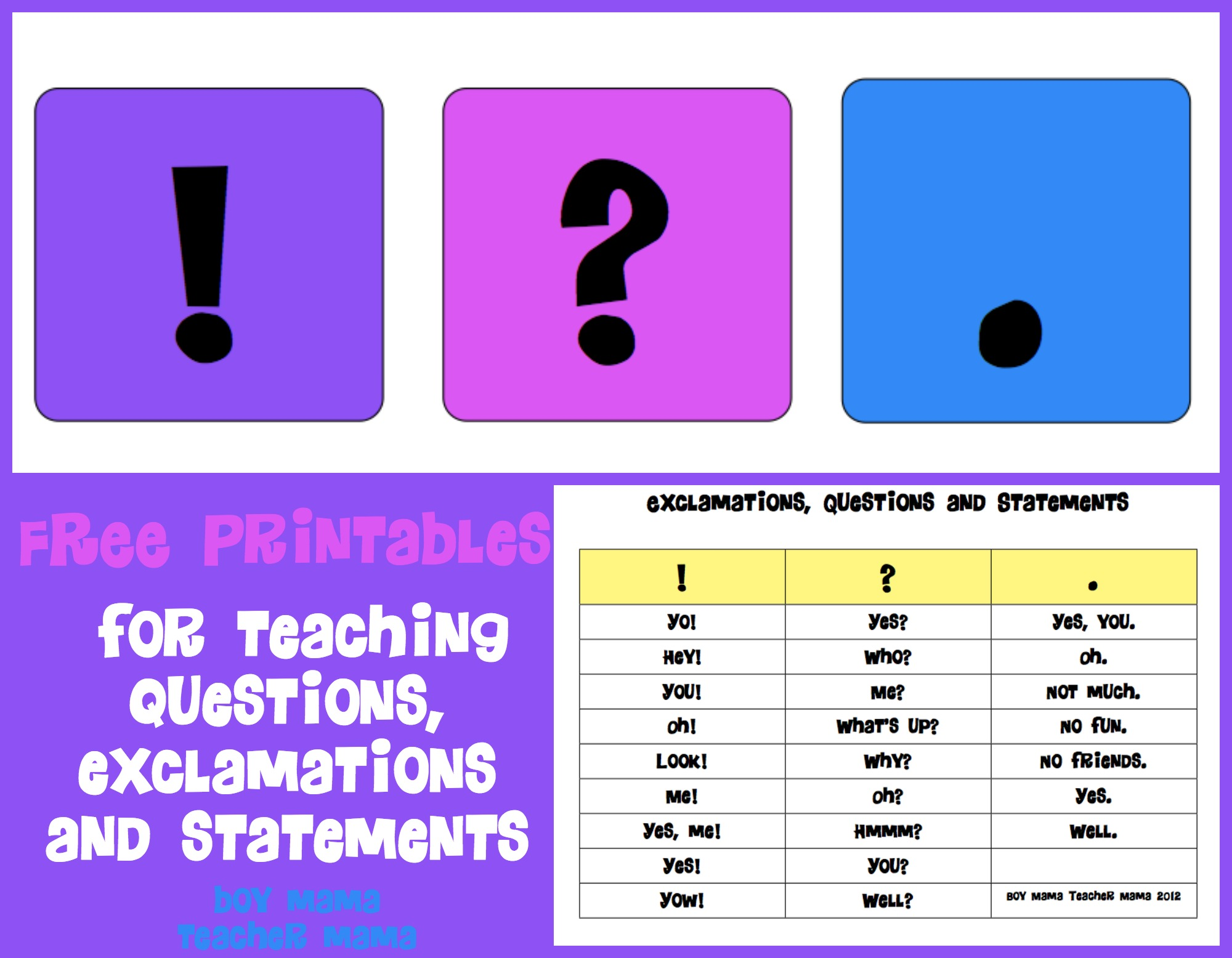 Teacher Mama Free Printables For Teaching Questions
