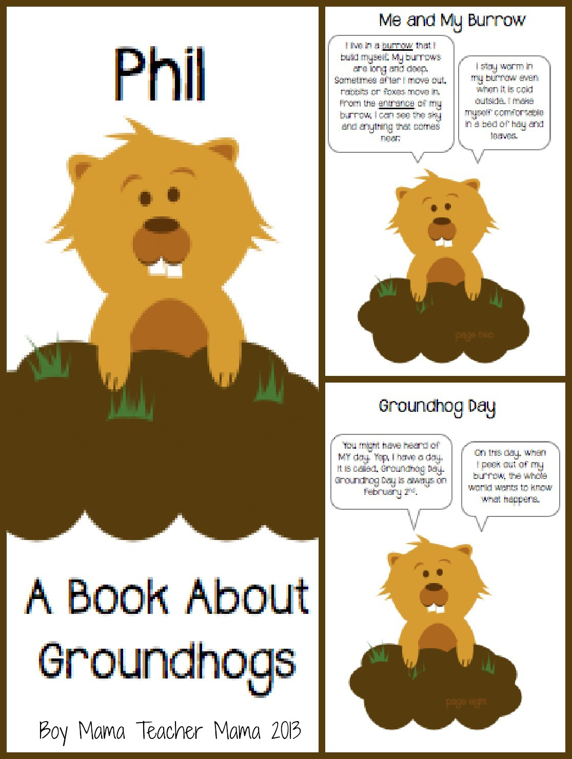 Teacher Mama Groundhog Day Book
