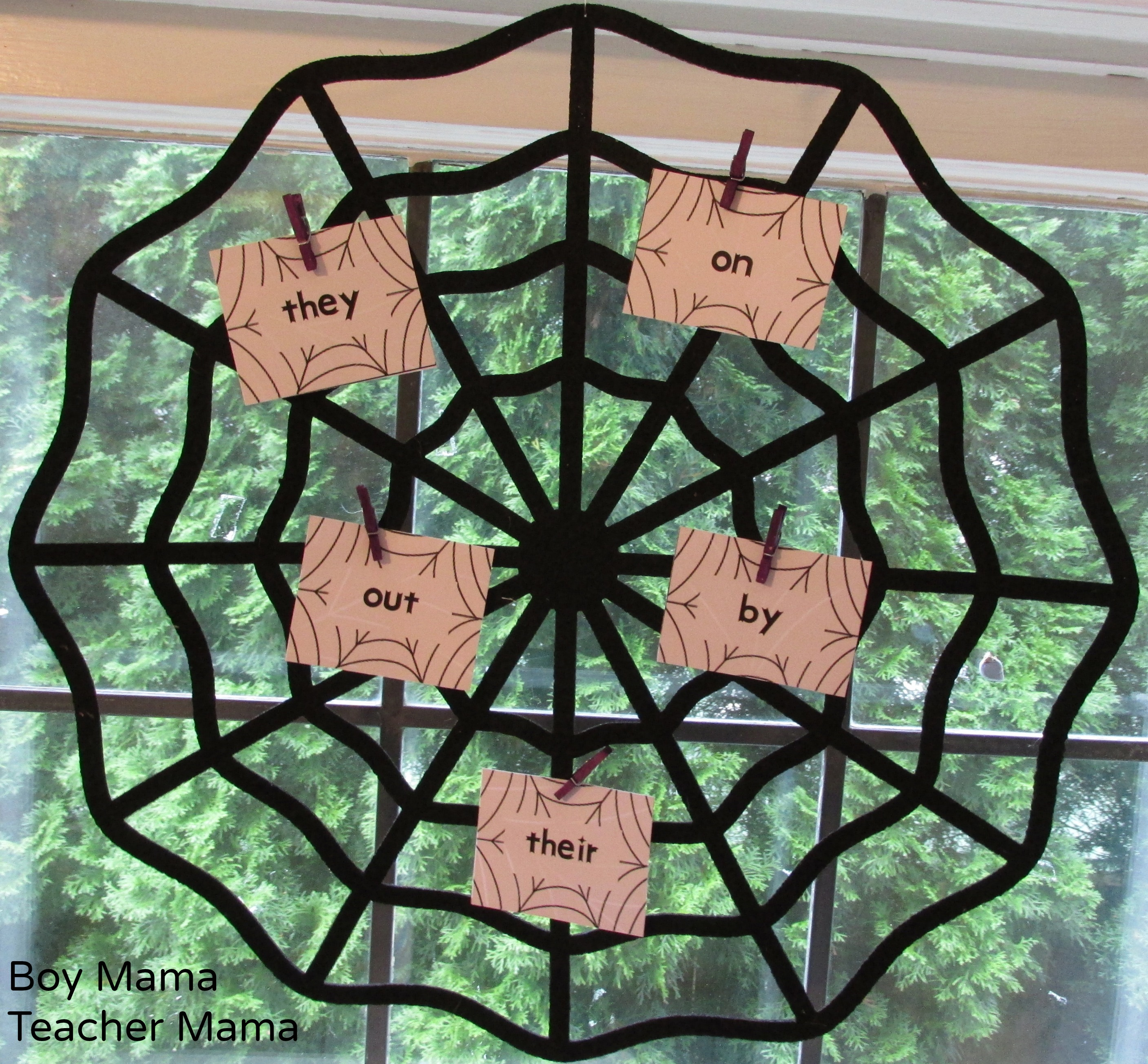 Teacher Mama Spider Web Sight Words And After School