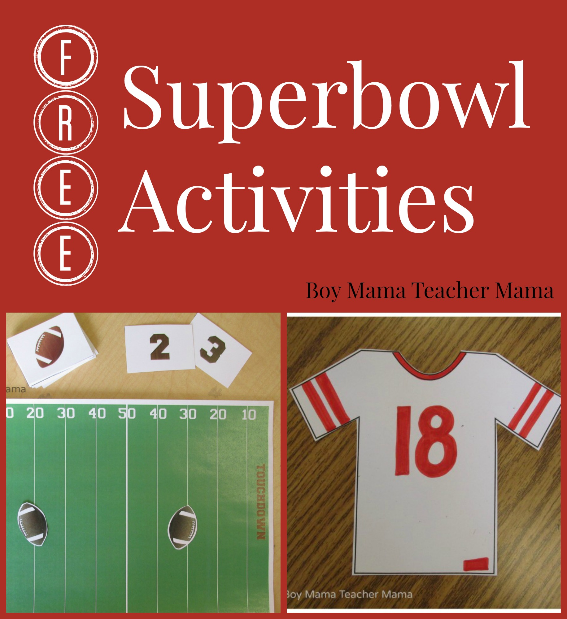 Teacher Mama Free Superbowl Activities