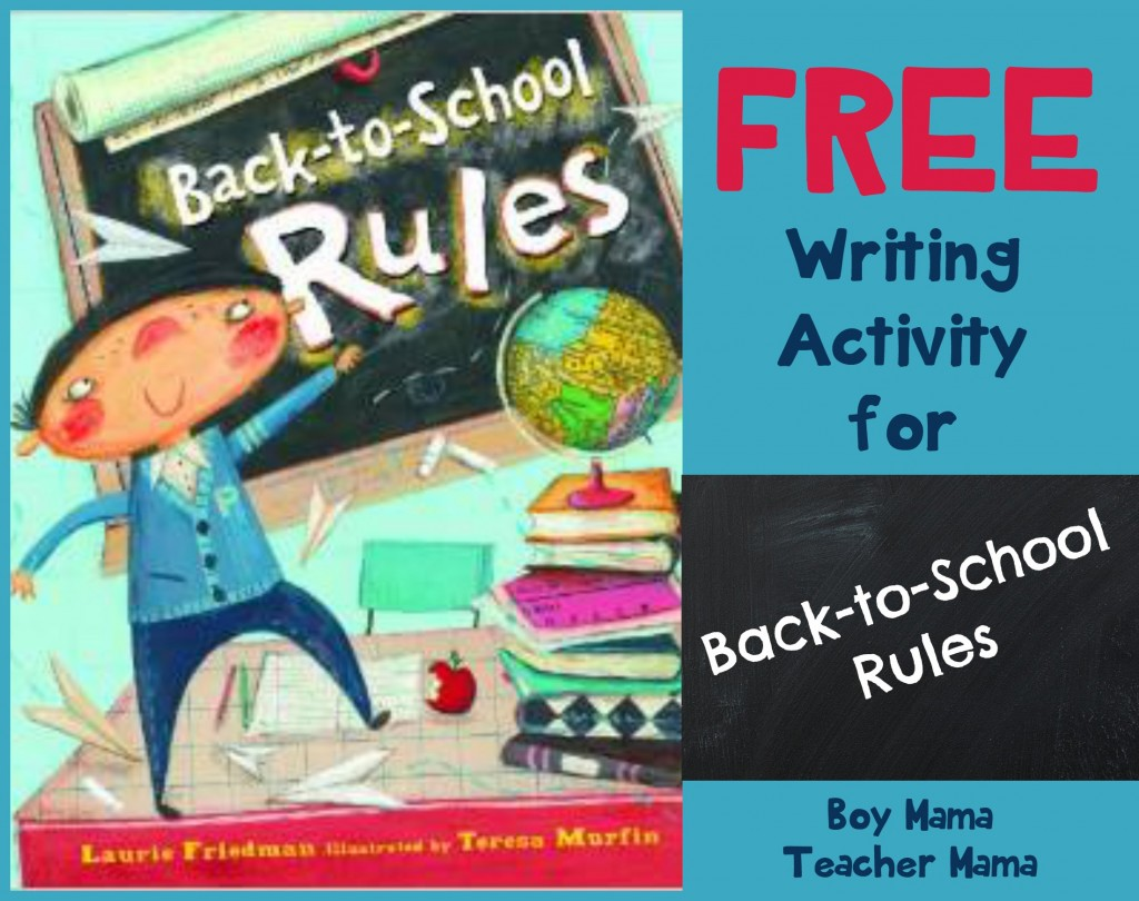 Teacher Mama Free Writing Activity For Back To School Rules