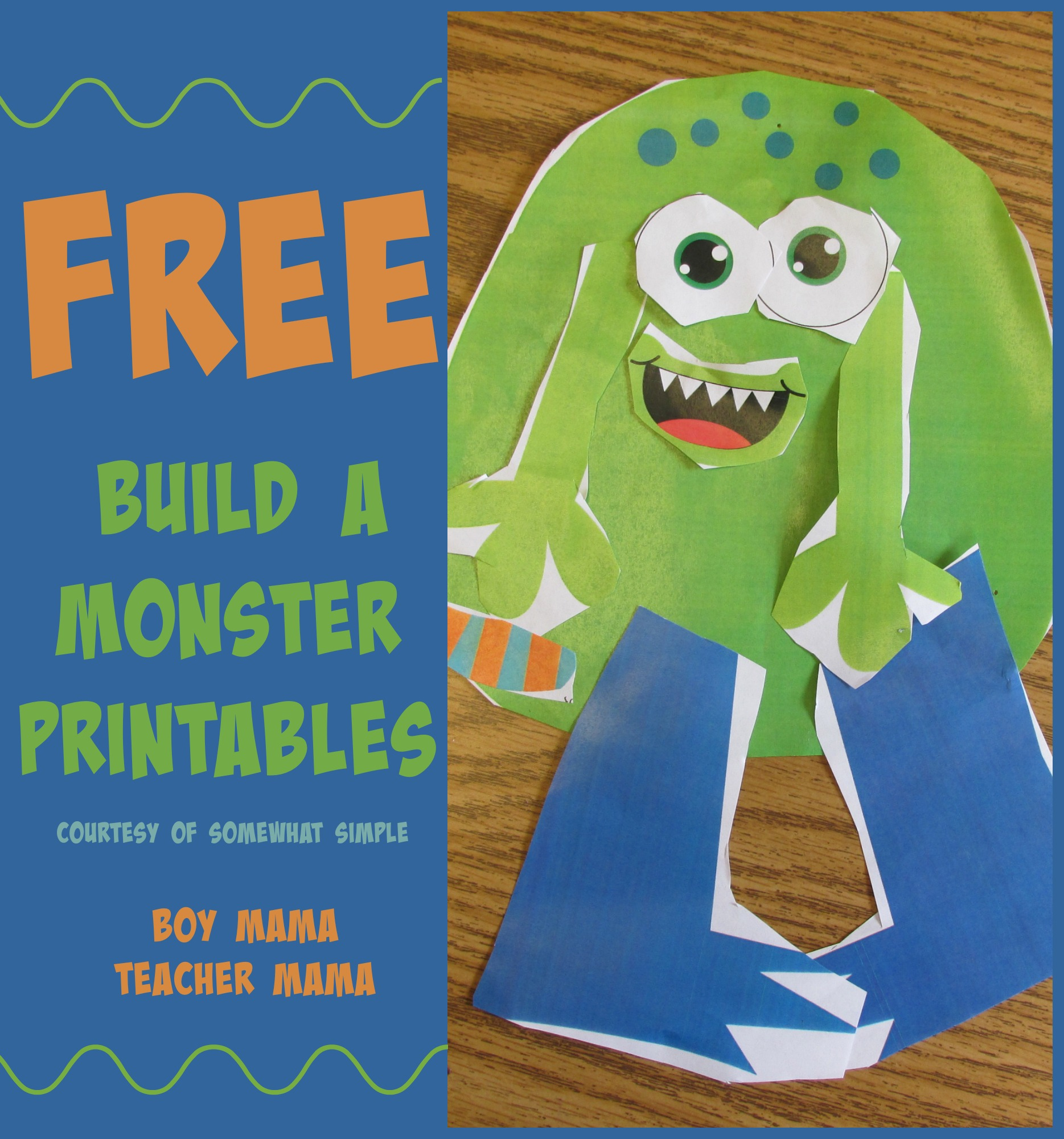 Teacher Mama Printable Build A Monster Activity From