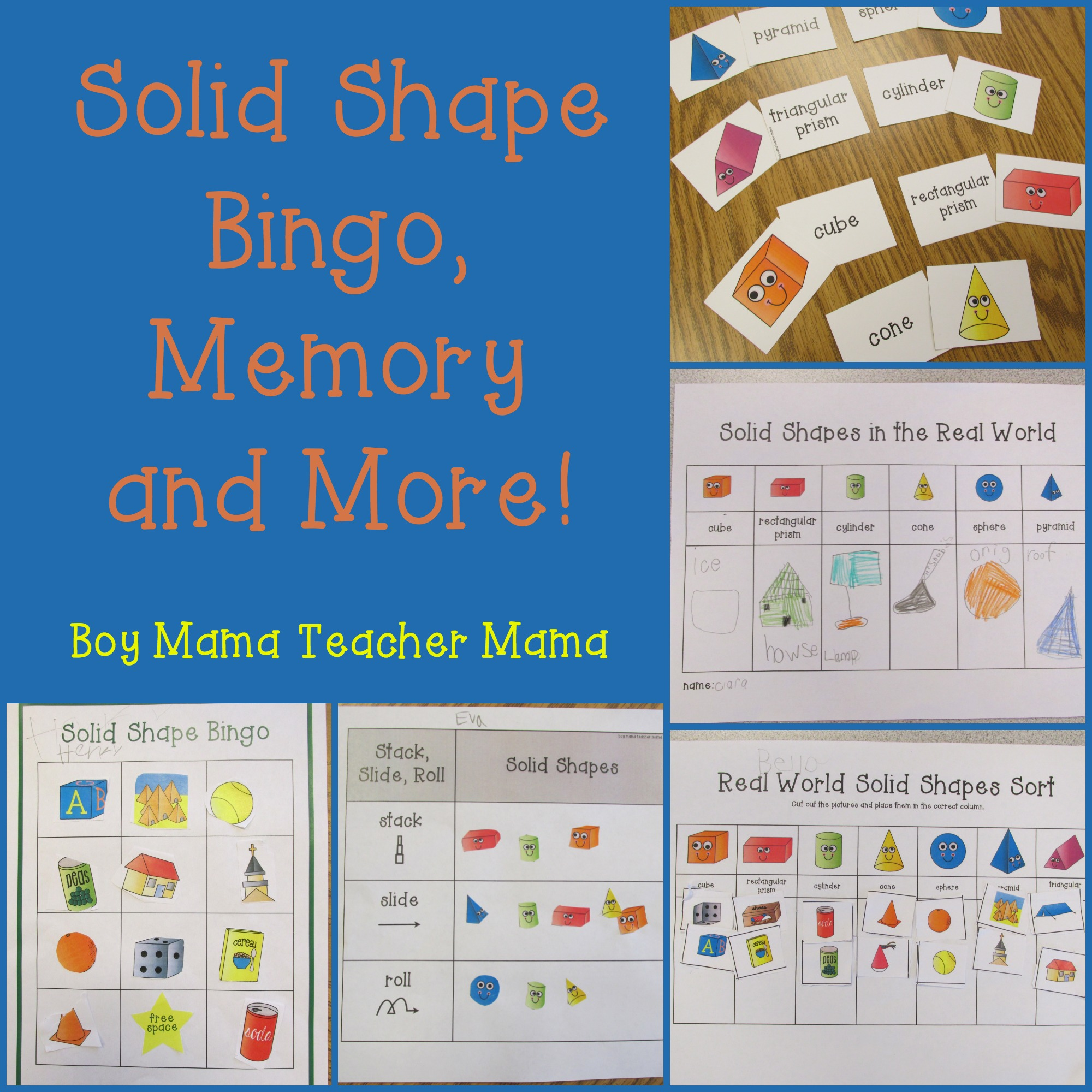 Teacher Mama Activities For Teaching Solid Shapes After School Linky