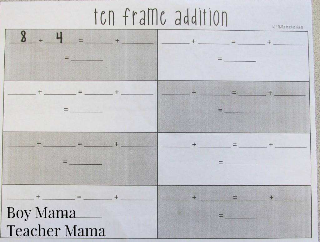 Teacher Mama Ten Frame Addition Game