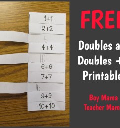 6 Games for Teaching Doubles and Doubles Plus One - Boy Mama Teacher Mama [ 1545 x 1828 Pixel ]