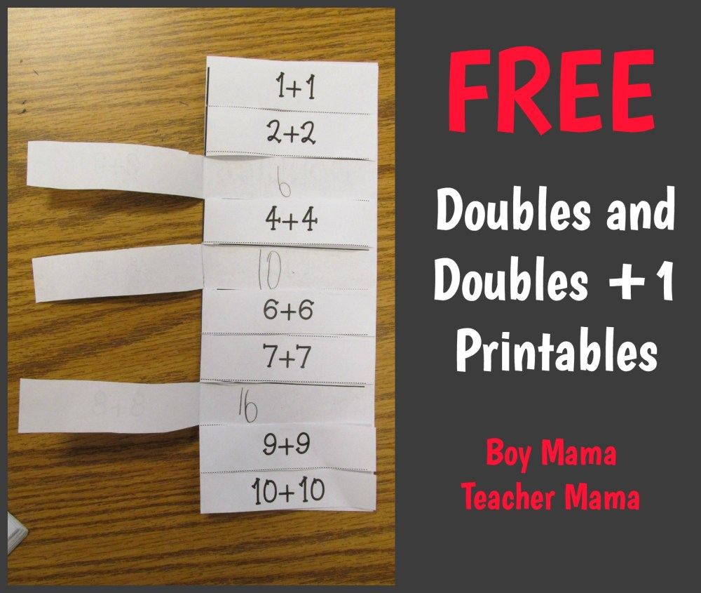 medium resolution of 6 Games for Teaching Doubles and Doubles Plus One - Boy Mama Teacher Mama
