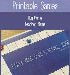 Teacher Mama: Short and Long Vowel Printable Games {After School Linky} -  Boy Mama Teacher Mama [ 2000 x 1323 Pixel ]