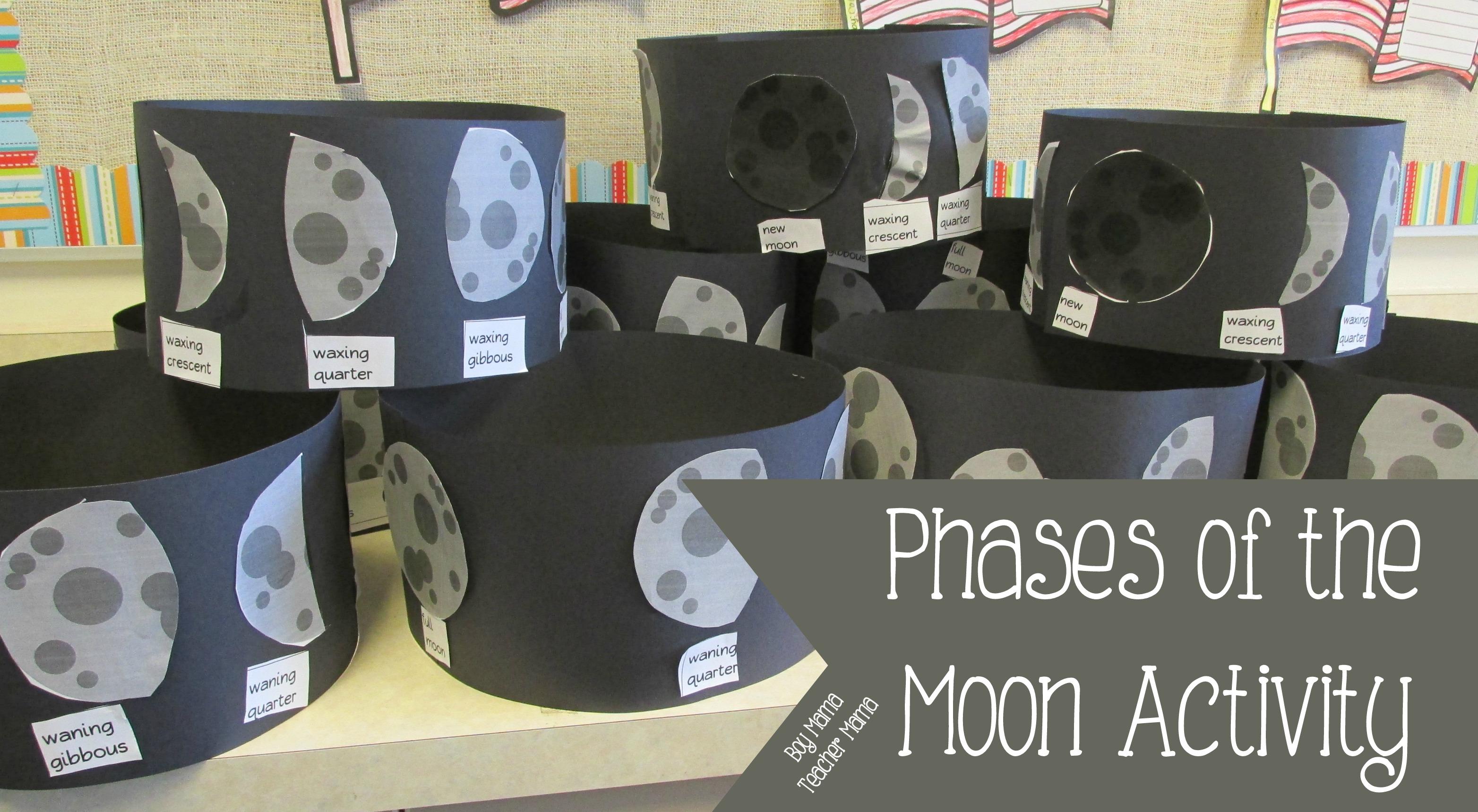 Teacher Mama Phases Of The Moon Activity