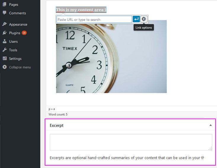 How to add a post with excerpt in WordPress