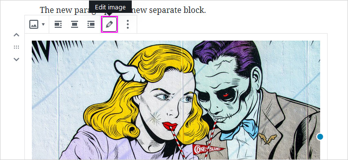 Where to find the Caption in WP block editor
