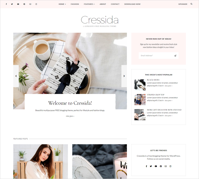 Lifestyle theme for bloggers