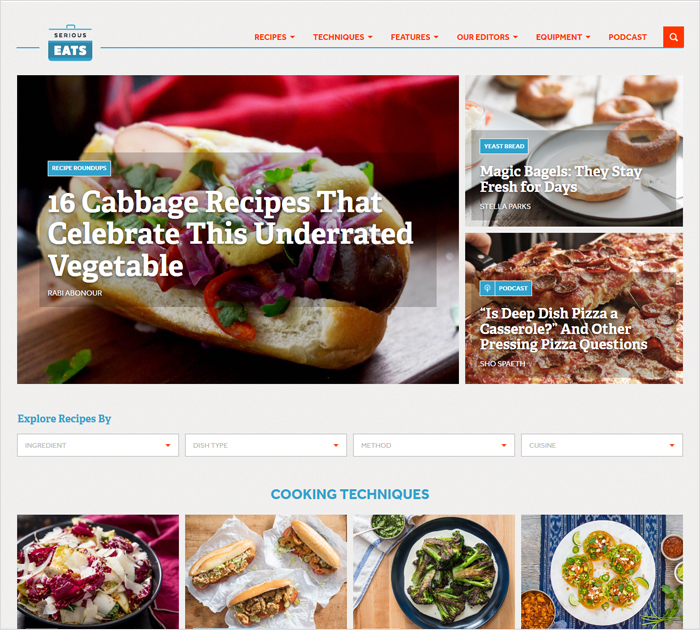 List of the best food blogs