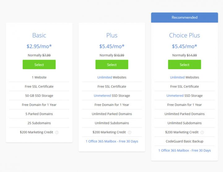 WordPress hosting plan in Bluehost - cheap WordPress hosting
