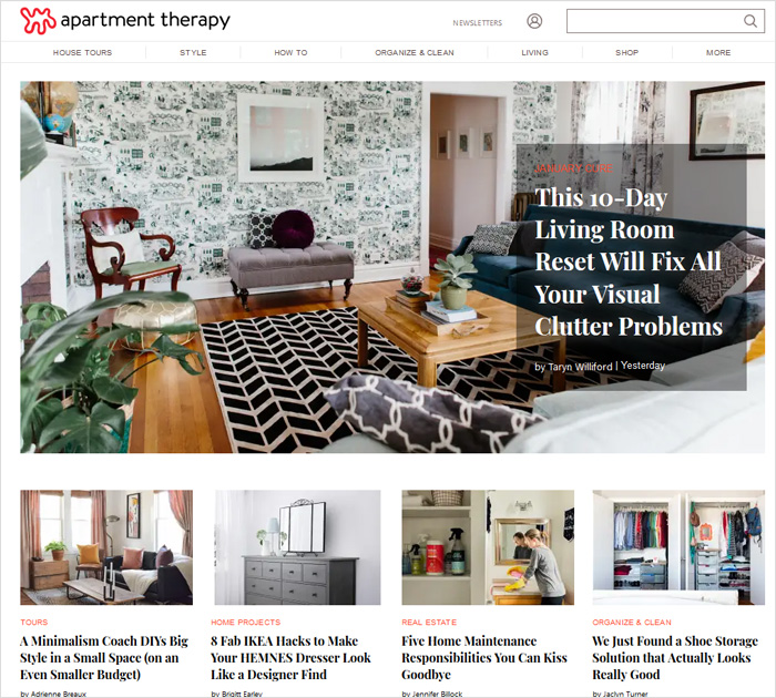 Apartment Therapy best blog to follow