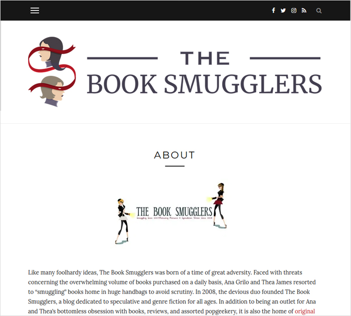 Personal blog - The Book Smugglers