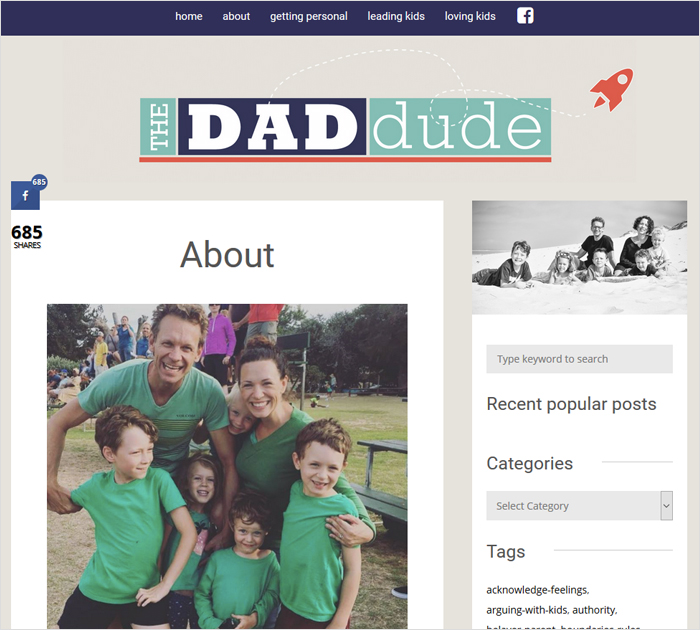 Best Personal blog - The Dad Dude