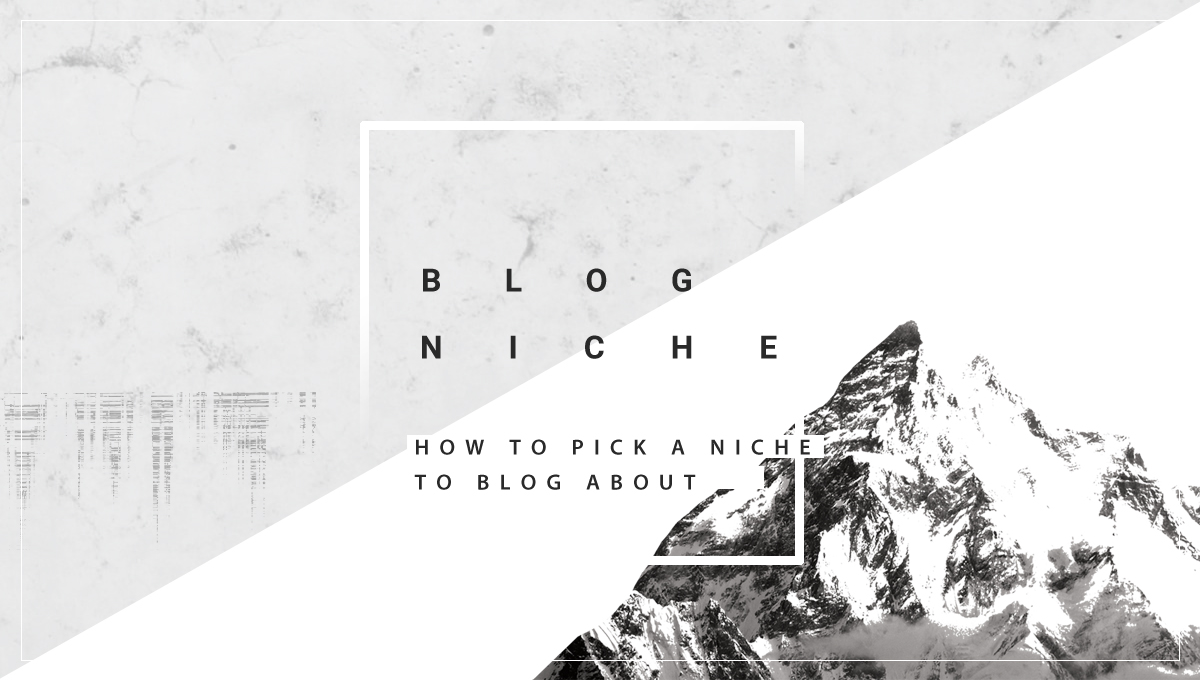 A big gray inaccessible peak that says: Blog niche: How to pick a niche to blog about