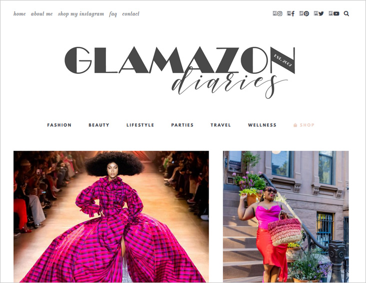glamazon diaries blog