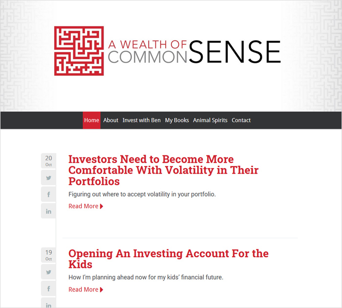 A wealth o fcommon sense - personal finance blog
