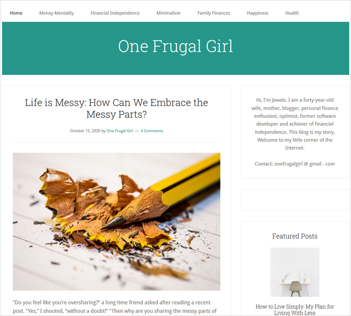 One Frugal Girl
