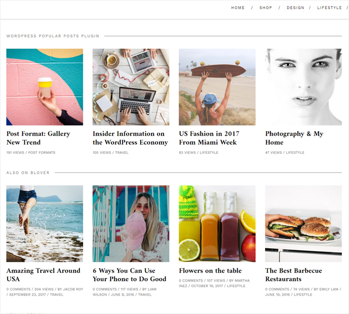 Creating new blog with Blover theme - additional options