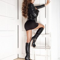 Beautiful Ladies In Leather Boots.
