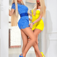 Mellow Yellow Ladies In Bikinis, Stockings And High Heels