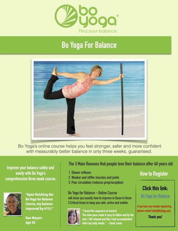 Bo Yoga for Balance Handout