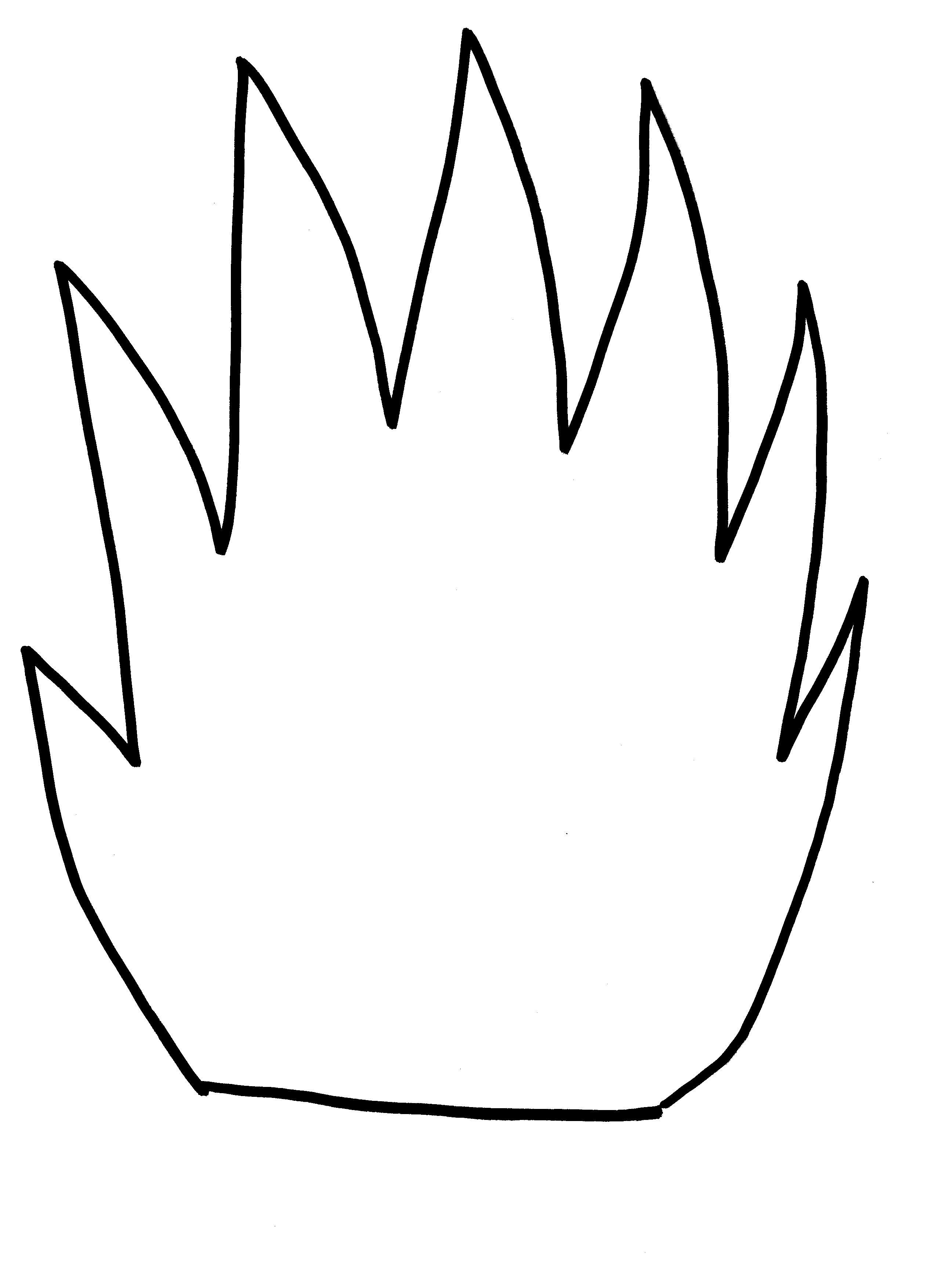 Free Printable Flame Template