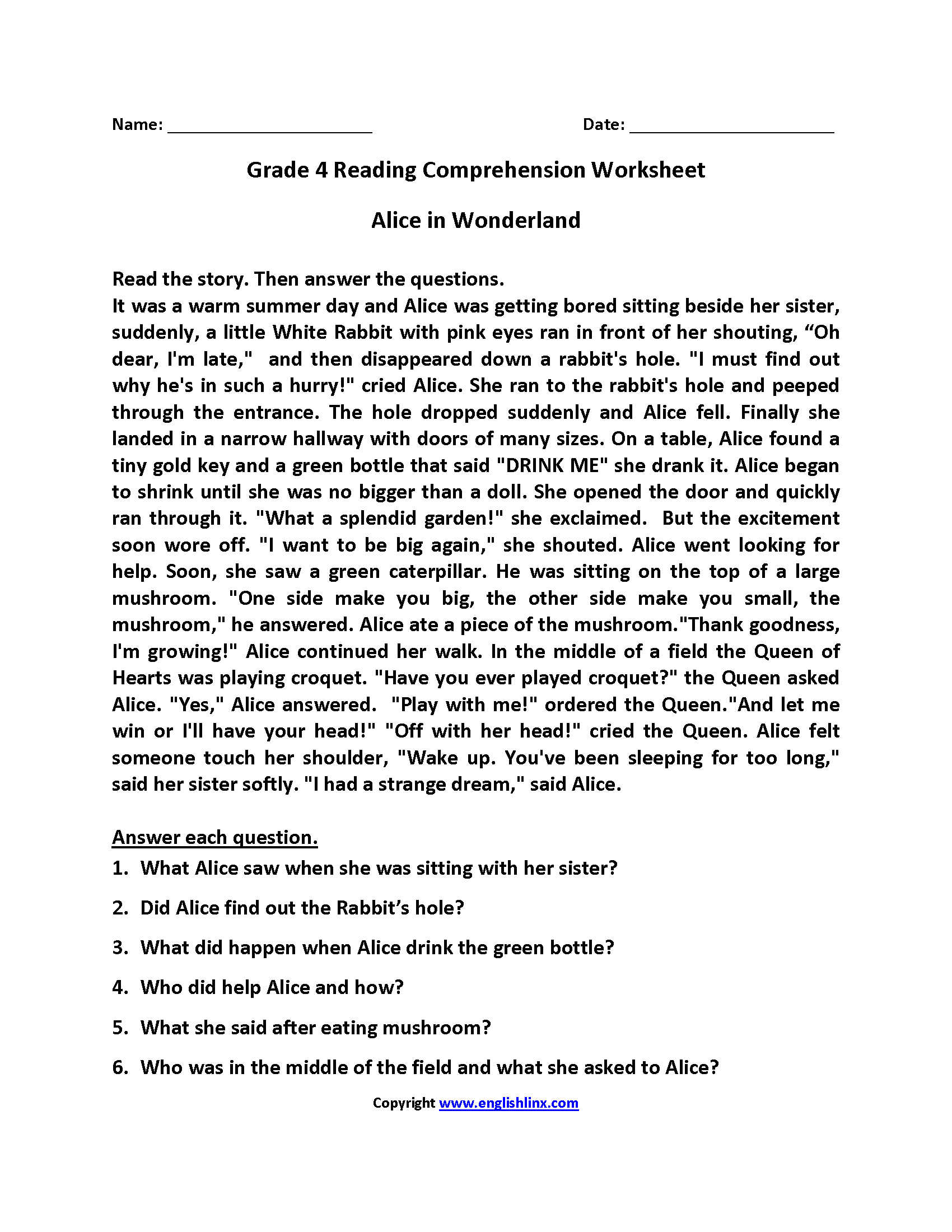 hight resolution of Art Worksheets For Fourth Graders   Printable Worksheets and Activities for  Teachers