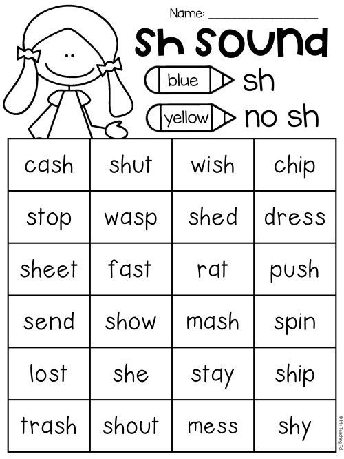 small resolution of Sh Th Wh Ch Tch Worksheets   Printable Worksheets and Activities for  Teachers