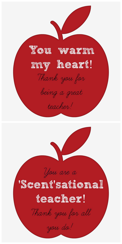 Scentsational Teacher Free Printable