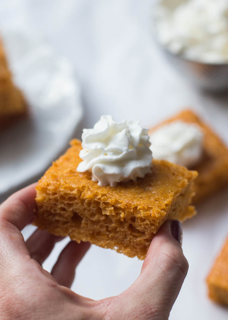 pumpkin bars with cake mix