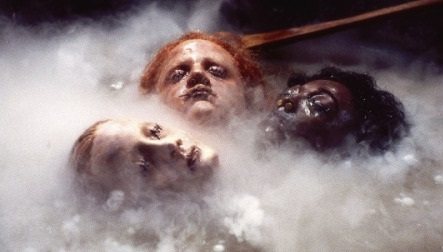 shrunken heads in cauldron
