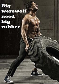 true blood werewolf rubber