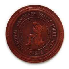 1957 National Jamboree Leather Patch