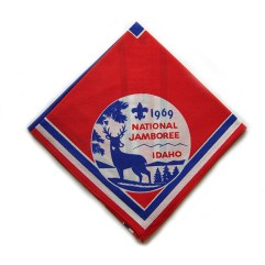 1969 National Jamboree Neckerchief Red