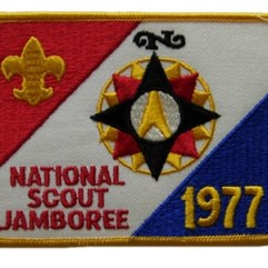 1977 National Jamboree Back Patch