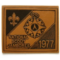 1977 National Jamboree Leather Patch
