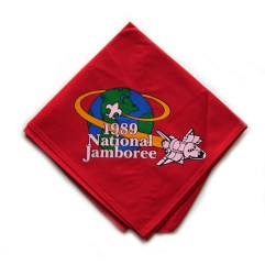 1989 National Jamboree Neckerchief Red