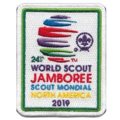 2019 World Jamboree Official White Pocket Patch