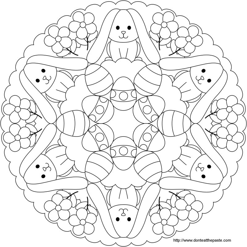 Free beautiful Easter printables to colour in with the