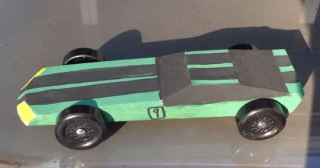 Pinewood derby car