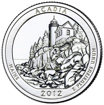 America the Beautiful quarters - Acadia National Park