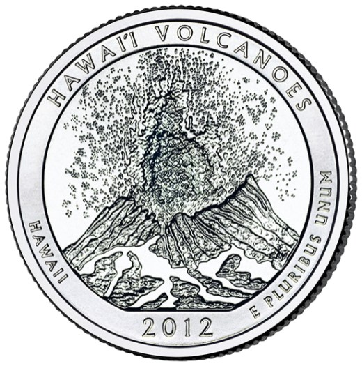 America the Beautiful quarters - Hawaii Volcanoes National Park