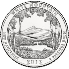 America the Beautiful quarters - White Mountain National Forest