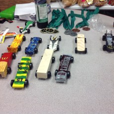 Ten cars from my son's Pack (1/4/2017)
